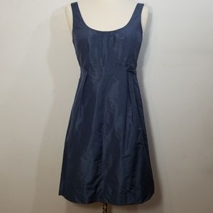 J. Crew Blue Caspian Taffeta Clementine Dress 4P